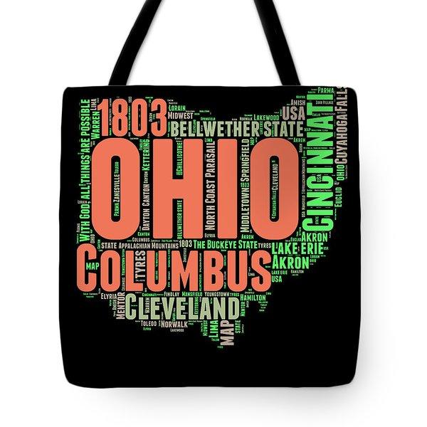 Ohio Word Cloud Map 1 Tote Bag