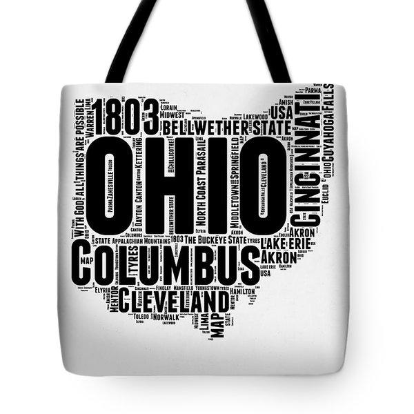 Ohio Word Cloud Map 2 Tote Bag