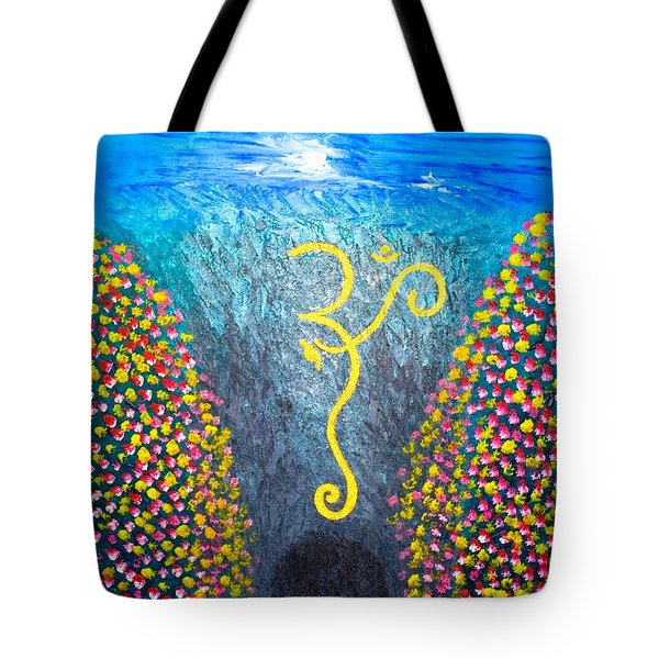 Tote Bag featuring the painting OHM by Piety Dsilva