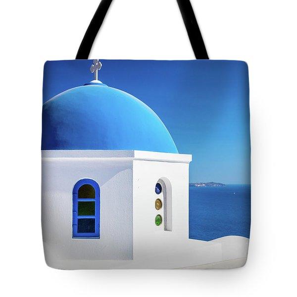 Oia Chapel Tote Bag