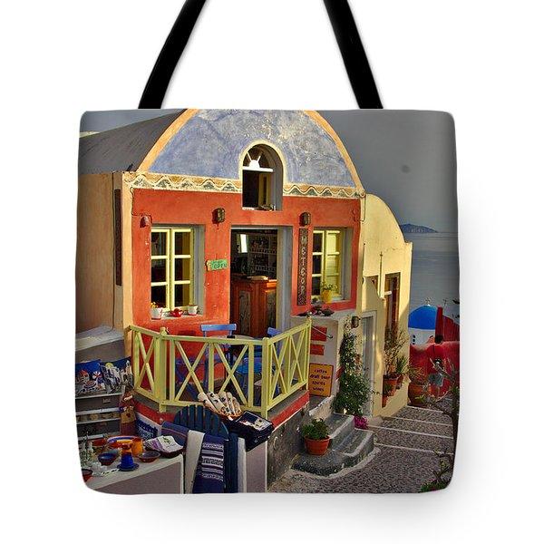 Oia Pub Tote Bag