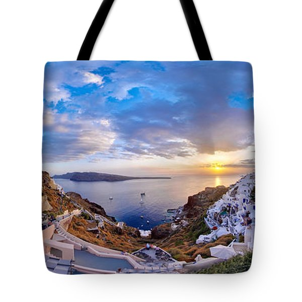 Oia Sunset Tote Bag by Milos Novakovic