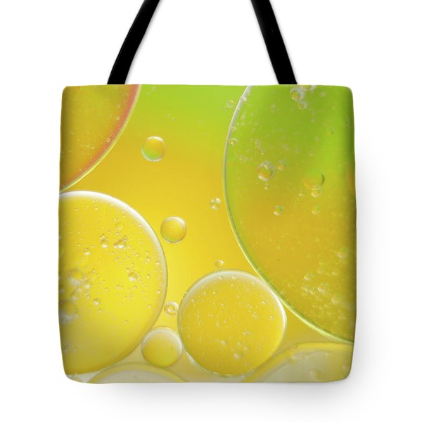 Oil And Water Bubbles  Tote Bag