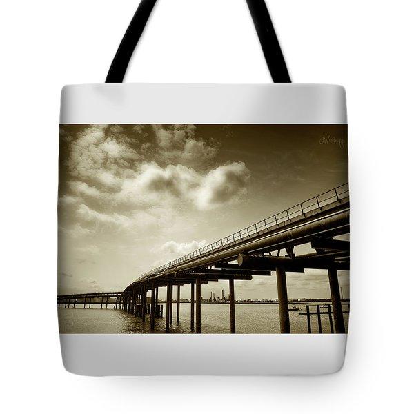 Oil Bridge II Tote Bag by Joseph Westrupp