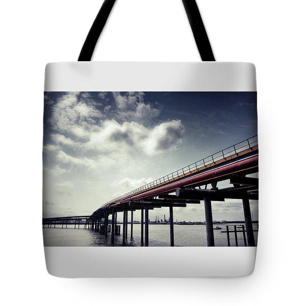 Oil Bridge Tote Bag by Joseph Westrupp
