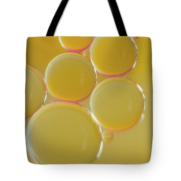 Oil Bubbles On Water Abstract Tote Bag
