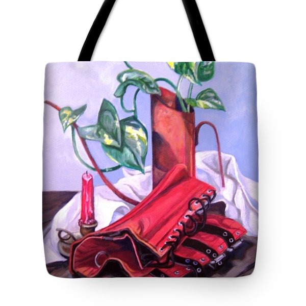 Oil Can And Corset Tote Bag