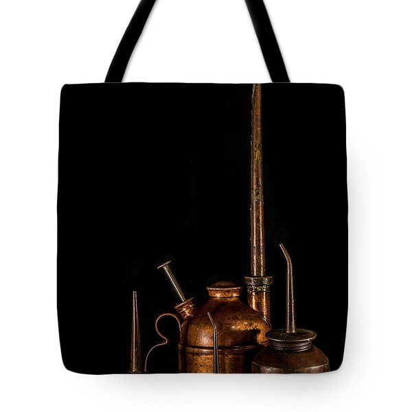 Tote Bag featuring the photograph Oil Cans by Paul Freidlund