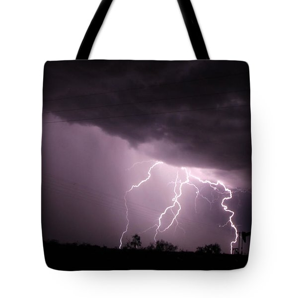 Oil Field Lightning Tote Bag