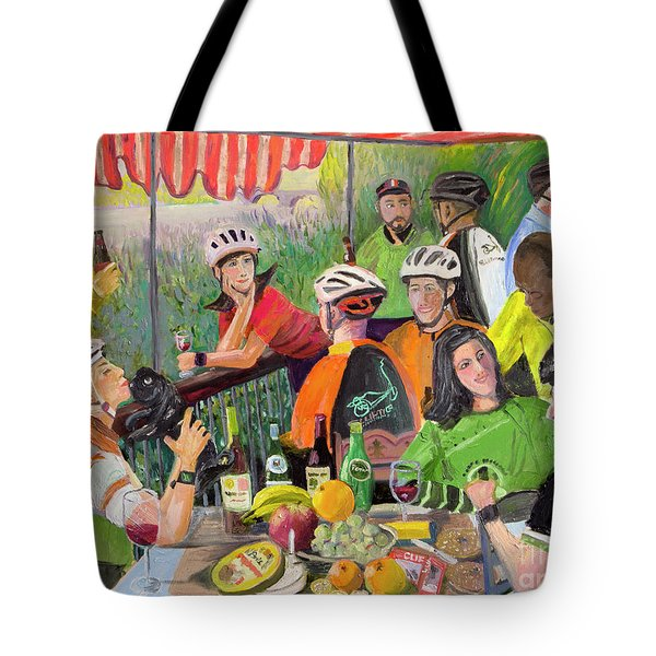 Oil- Luncheon Of The Cycling Party Tote Bag