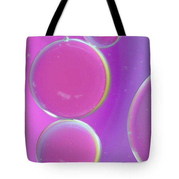 Oil On Water Abstract Tote Bag