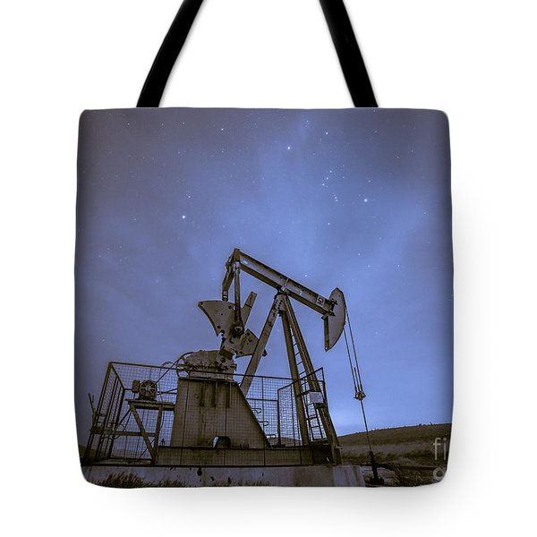 Oil Rig And Stars Tote Bag