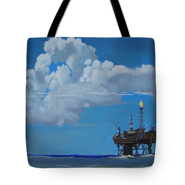 Oil Rig Near The Shetland Islands Tote Bag