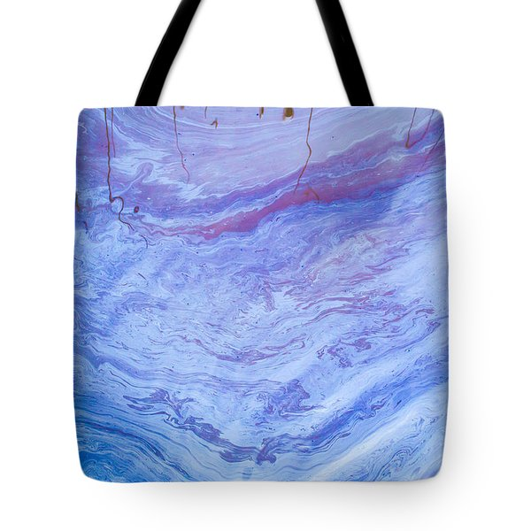 Oil Spill On Water Abstract Tote Bag