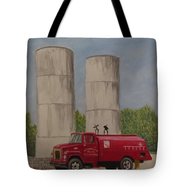 Oil Truck Tote Bag