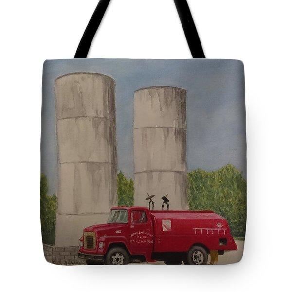 Oil Truck Tote Bag