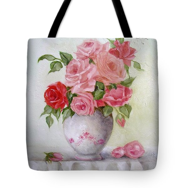 Oil Vase Rose Tote Bag