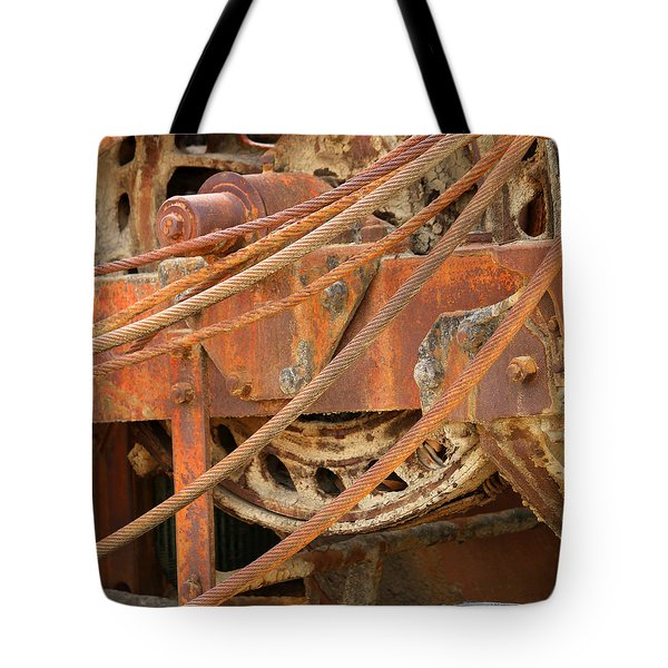 Tote Bag featuring the photograph Oil Production Rig by Art Block Collections
