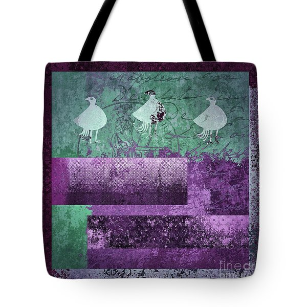 Tote Bag featuring the digital art Oiselot 01 - J097179222-bl02a by Variance Collections
