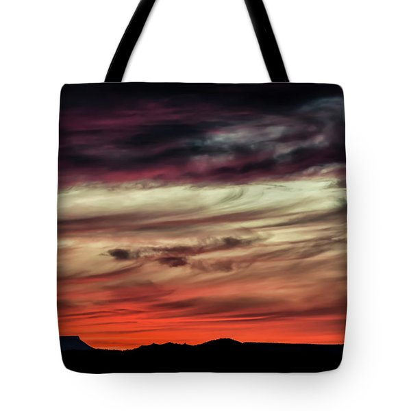 Tote Bag featuring the photograph Ojo Caliente Sunset by Britt Runyon