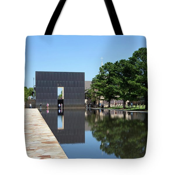 Tote Bag featuring the photograph Oklahoma City National Memorial Bombing by Steven Frame