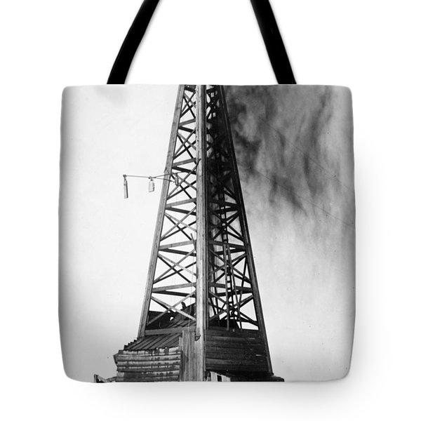 Tote Bag featuring the photograph Oklahoma: Oil Well, C1922 by Granger
