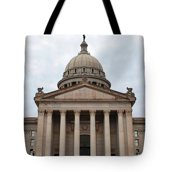 Oklahoma State Capitol - Front View Tote Bag