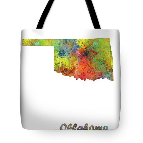 Oklahoma State Map Tote Bag