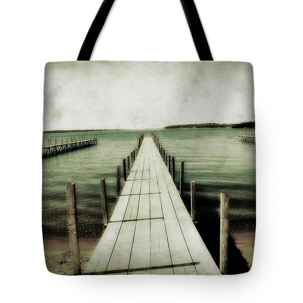 Okoboji Docks Tote Bag