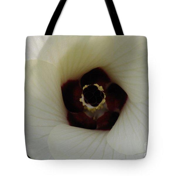 Okra Blossom Tote Bag