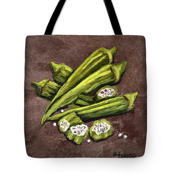 Okra Tote Bag by Elaine Hodges