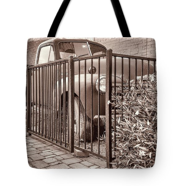 Ol' Chevy Castrated Tote Bag by Charles Ables