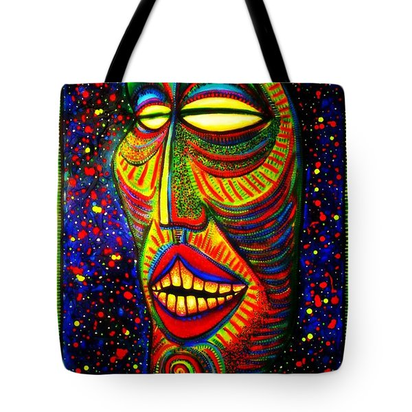 Ol' Funny Face Tote Bag by Kelly Awad