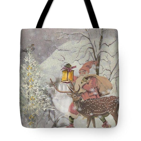Ol' Saint Nick Tote Bag by Diana Boyd