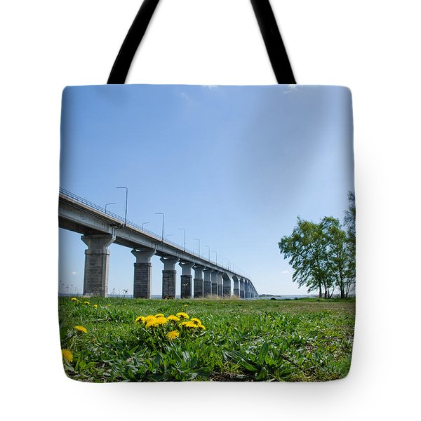 Tote Bag featuring the photograph Oland Bridge At Spring by Kennerth and Birgitta Kullman