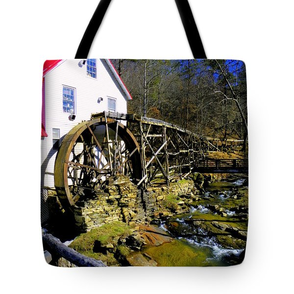 Old 1886 Mill Tote Bag by Karen Wiles