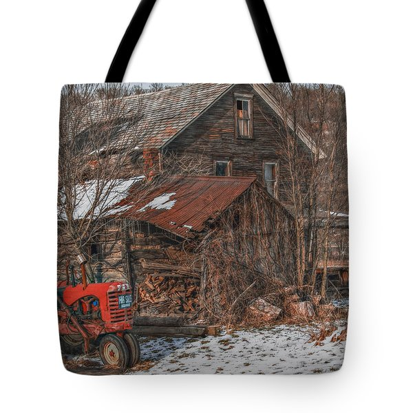 Old Abandoned Farm Homestead Tote Bag