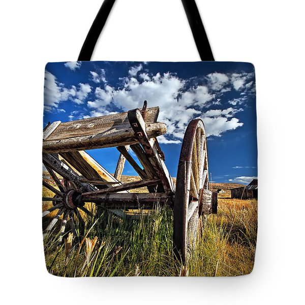 Old Abandoned Wagon, Bodie Ghost Town, California Tote Bag by Sam Antonio Photography