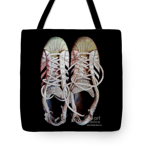 Tote Bag featuring the photograph Old Adidas Supestar II by Don Pedro De Gracia