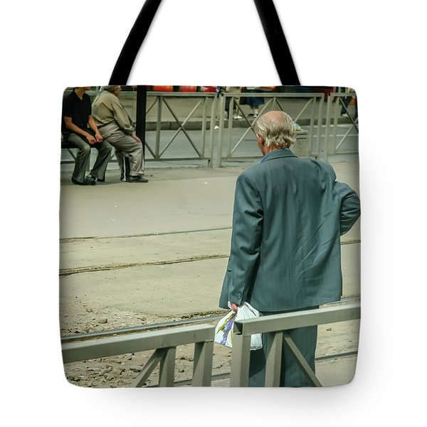 Tote Bag featuring the photograph Old, Alone, With Dignity by KG Thienemann
