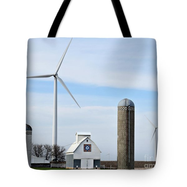 Old And New Farm Site Tote Bag by Kathy M Krause