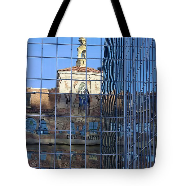 Tote Bag featuring the photograph Old And New Patterns by Phyllis Denton