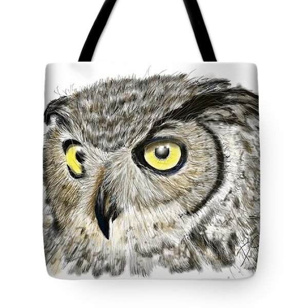 Tote Bag featuring the digital art Old And Wise by Darren Cannell