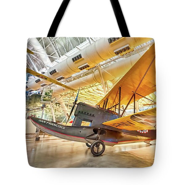 Old Army Biplane Tote Bag by Lara Ellis