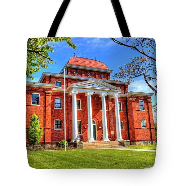 Old Ashe Courthouse Tote Bag by Dale R Carlson