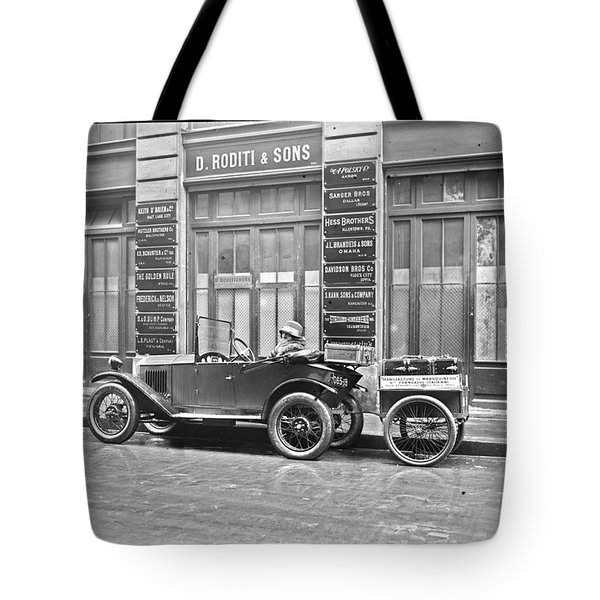 old automobile poster art wall - photo auto poster, auto photography restored - Restored auto photo  Tote Bag
