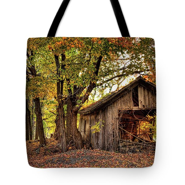 Old Autumn Shed Tote Bag