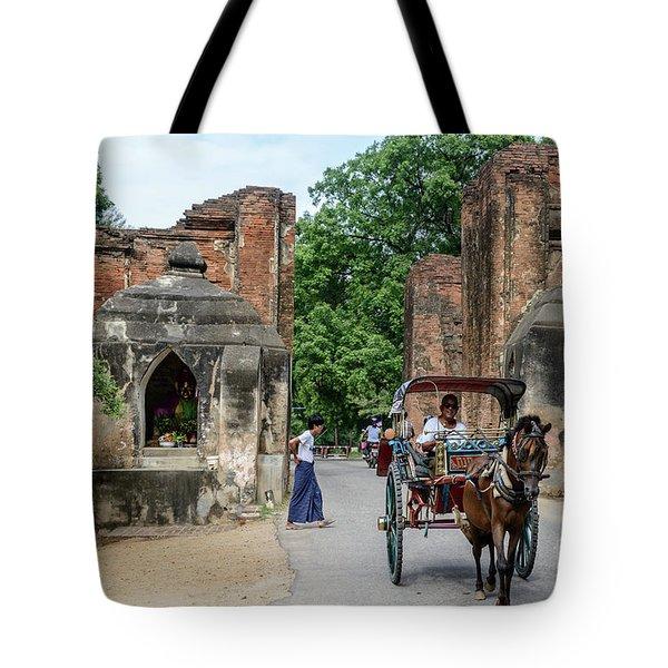 Old Bagan Tote Bag by Werner Padarin