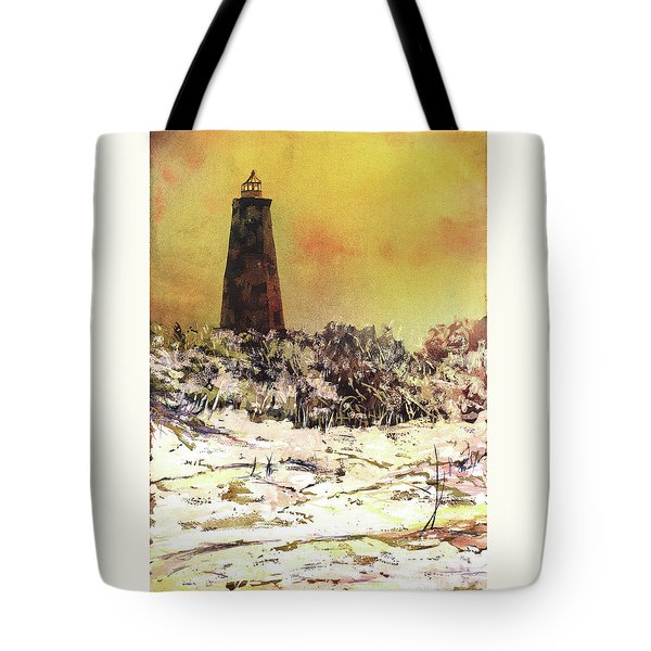 Tote Bag featuring the painting Old Baldy Lighthouse- North Carolina by Ryan Fox
