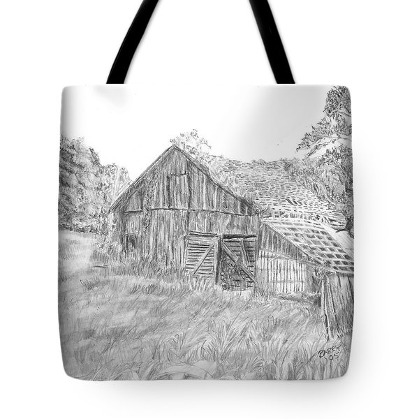 Old Barn 3 Tote Bag by Barry Jones